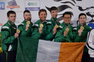 World Champions Irish Senior Team (L-R) Stephen Smullen, Richie Forde, Darren Smith, Adam Shelley, Hong Looi & Dylan Fitzgibbon